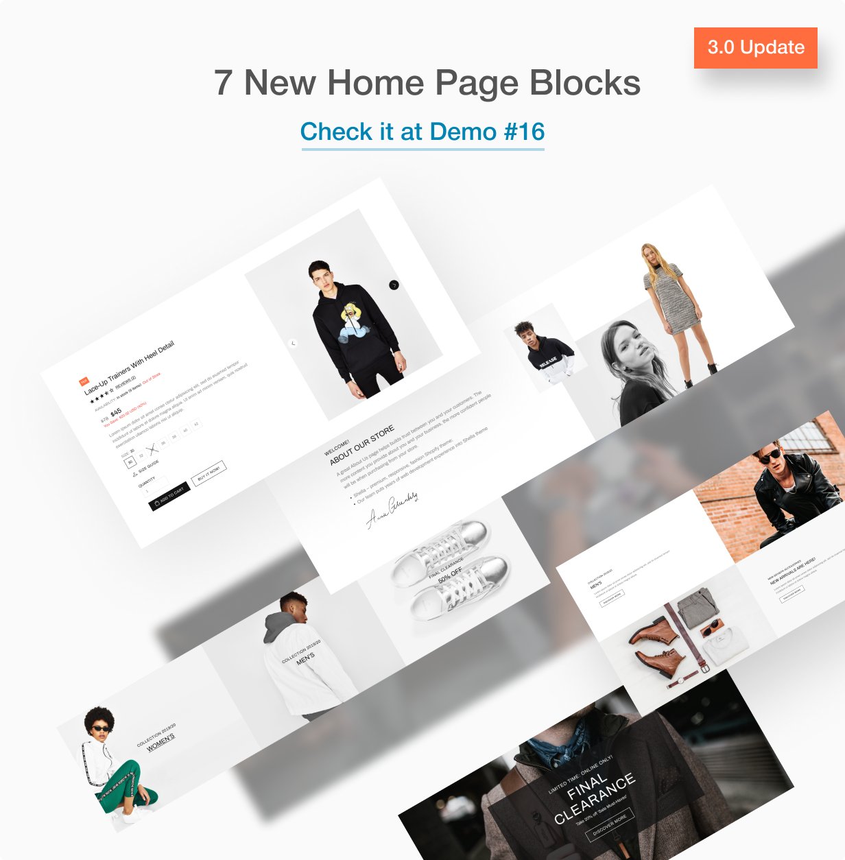 New blocks on home page