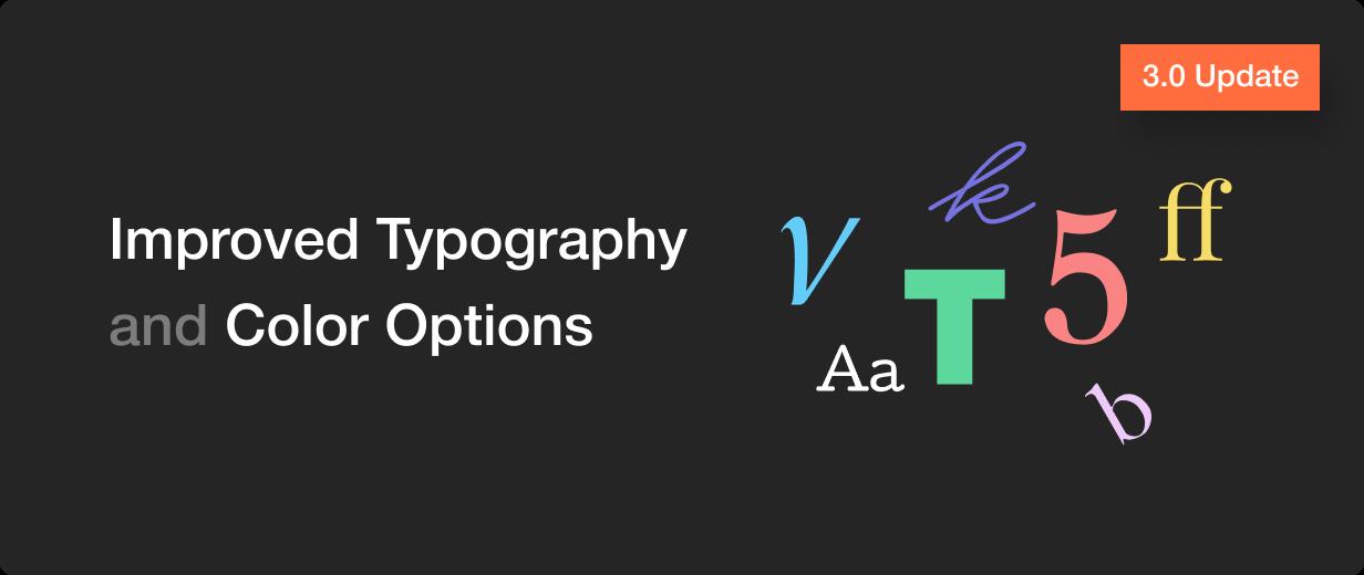 Add typography options