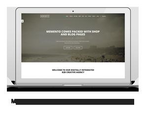 Memento - Creative One Page WordPress Template