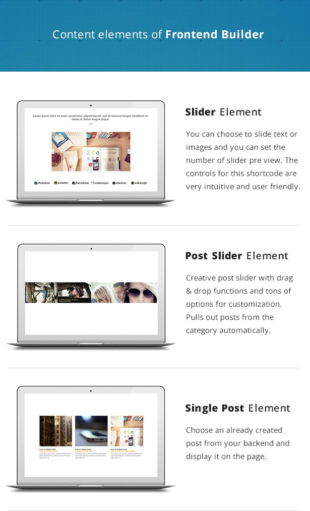 Frontend Builder - WordPress Content Assembler, Page Builder & Drag & Drop Page Composer - 7