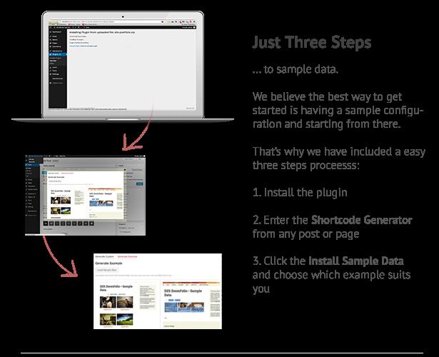 3 easy steps to sample data