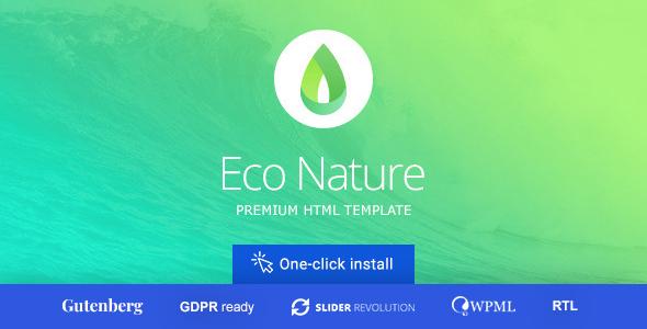 Eco Nature - Environment & Ecology WordPress Theme