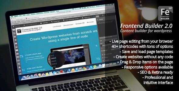 Frontend Builder - WordPress Content Assembler, Page Builder & Drag & Drop Page Composer