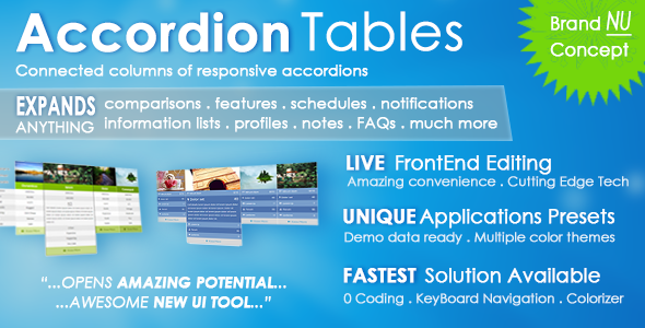 Accordion Tables, FAQs, Columns, and More - CodeCanyon Item for Sale