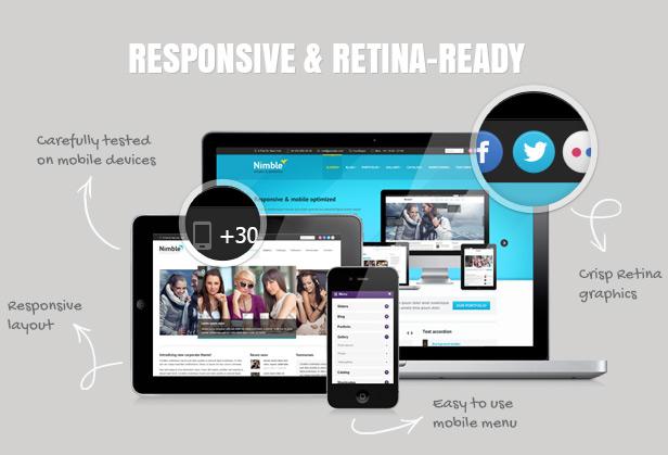Nimble — Multipurpose Retina Ready WordPress Theme - 2