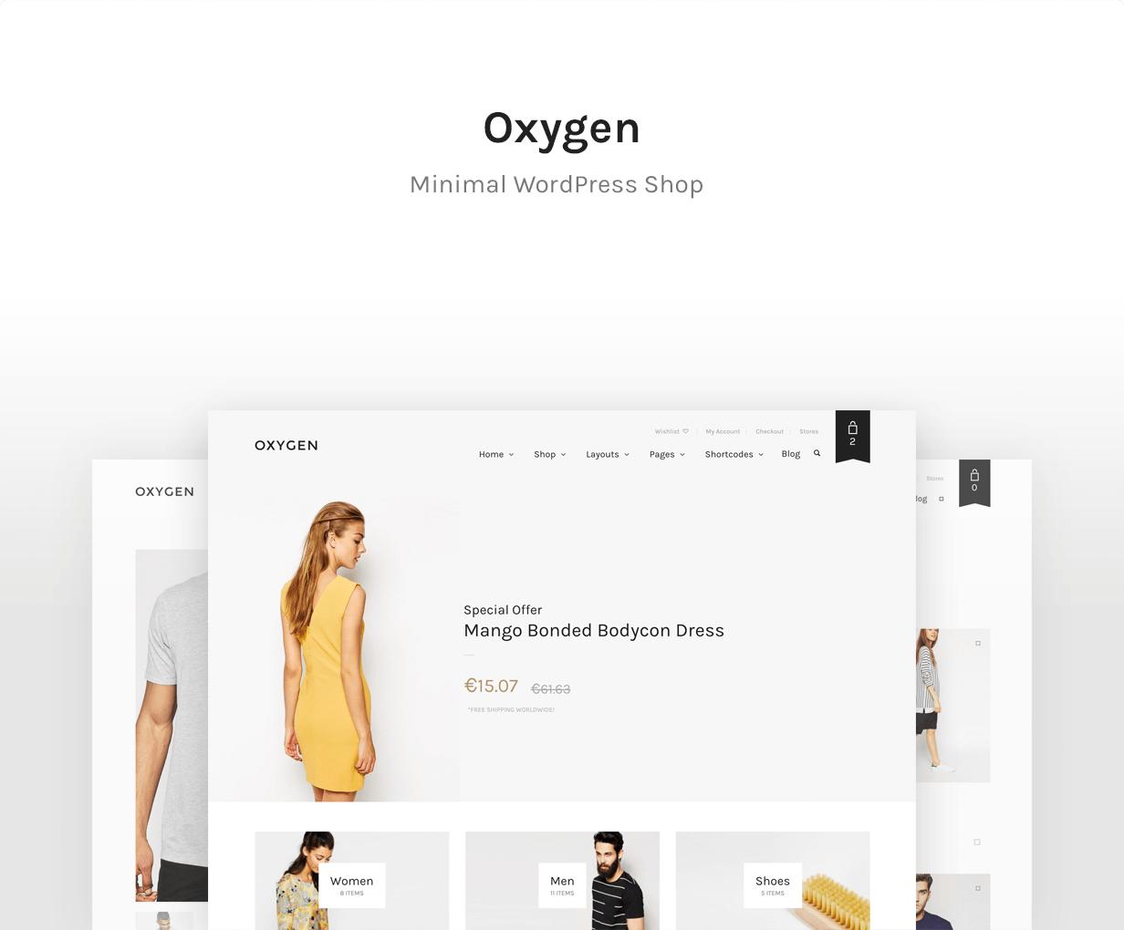 Oxygen — Best WooCommerce theme