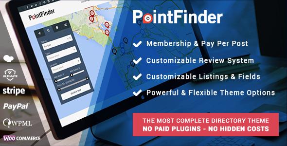 PointFinder   Directory & Listing WordPress Theme