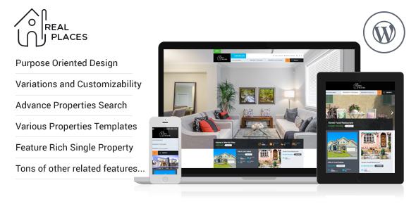 RealPlaces - Estate Sale and Rental WordPress Theme