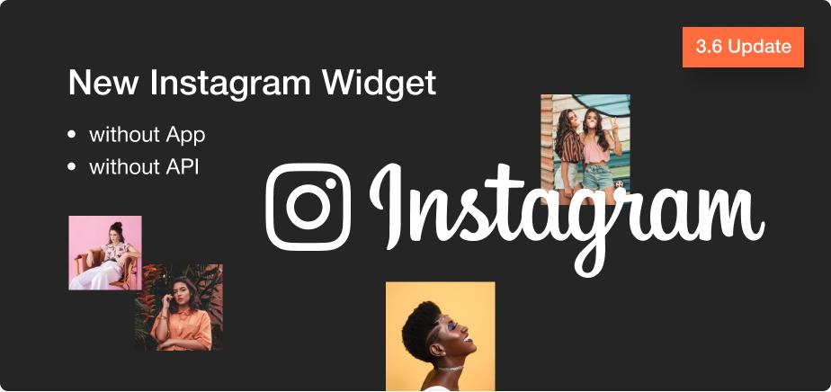 Update 3.6 New Instagram widget
