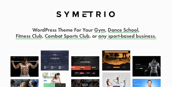 Symetrio - Gym & Fitness WordPress Theme