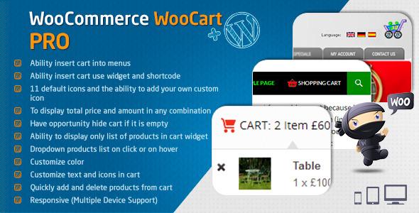 WooCart Pro - Dropdown Cart for WooCommerce
