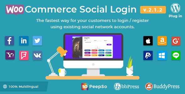 WooCommerce Social Login - WordPress Plugin