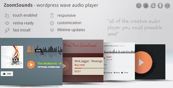 ZoomSounds - WordPress Wave Audio Player with Playlist