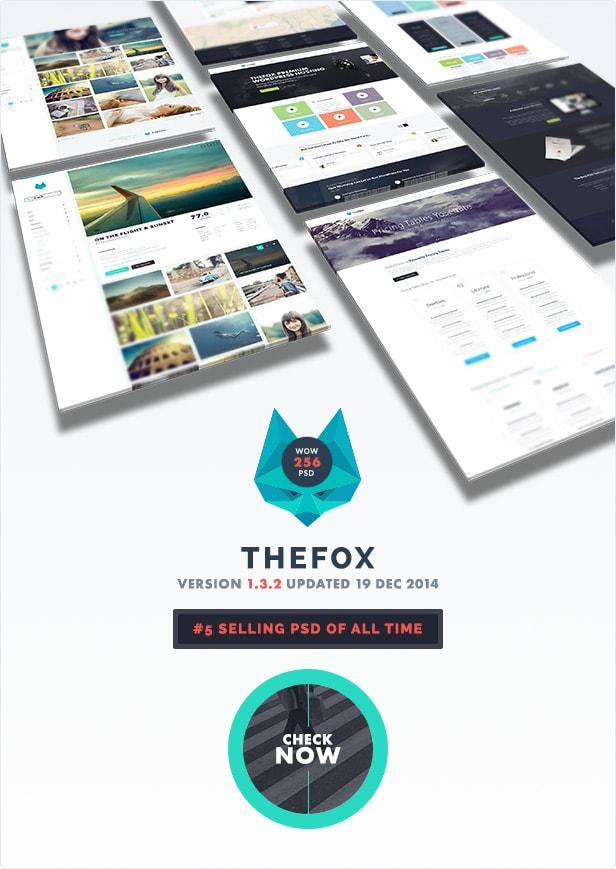 the best psd template - thefox psd - version 1.3.2 - 19 Dec, 2014