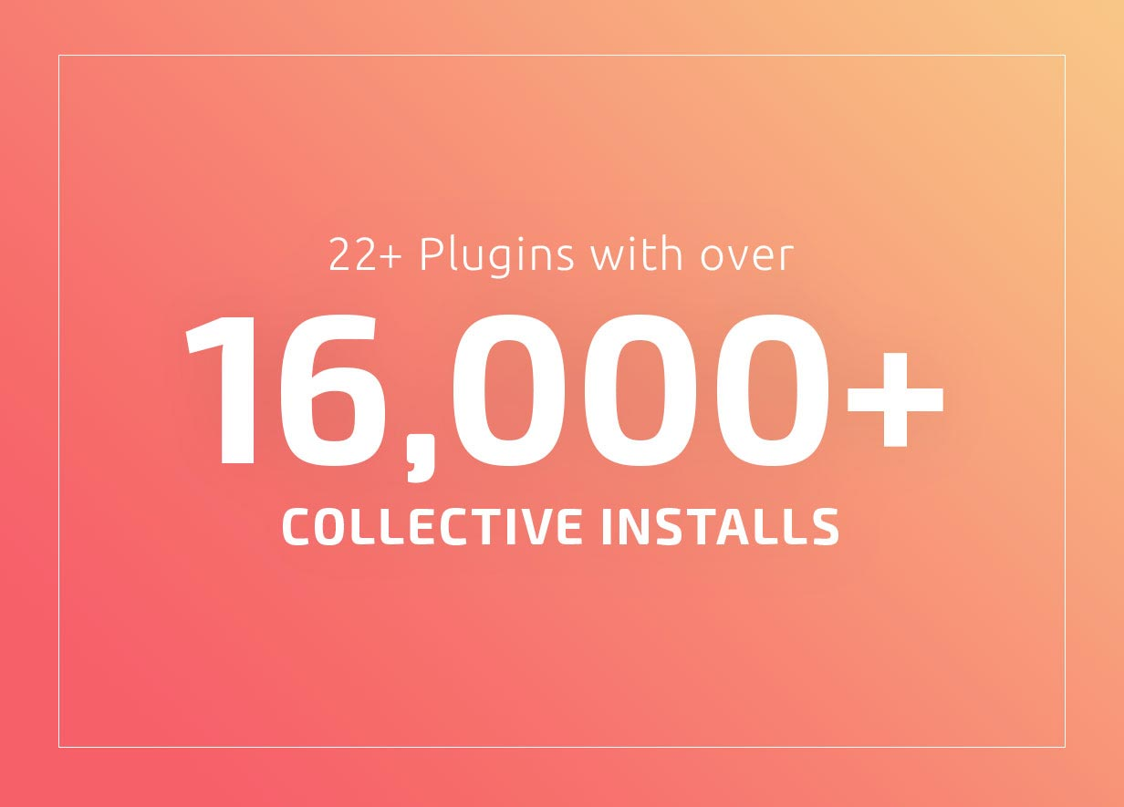 20+ plugins with over 12,000+ collective installs.