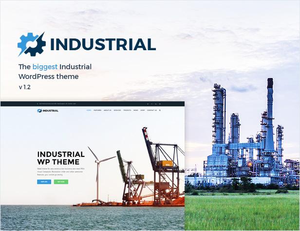 Industrial - Factory Business WordPress Theme - 1