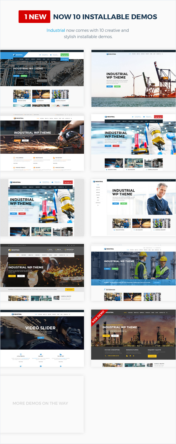 Industrial - Factory Business WordPress Theme - 4