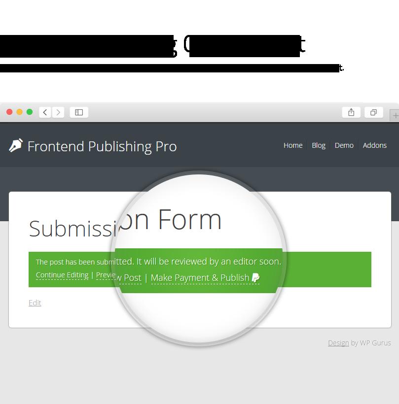 Frontend Publishing Pro - WordPress User Submission Plugin - 19