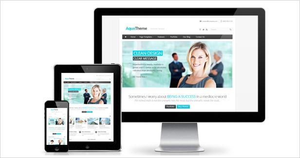 Aqua - Responsive Multi-Purpose WordPress Template - 1