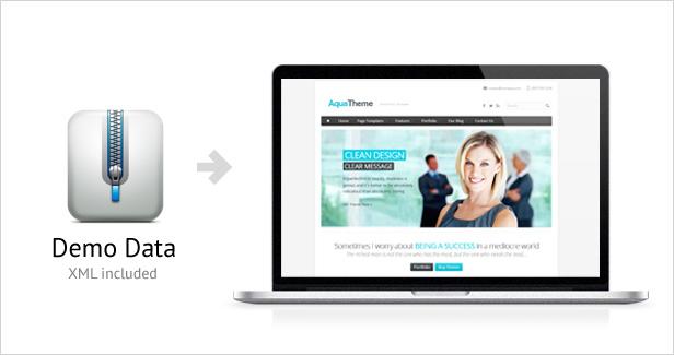 Aqua - Responsive Multi-Purpose WordPress Template - 2