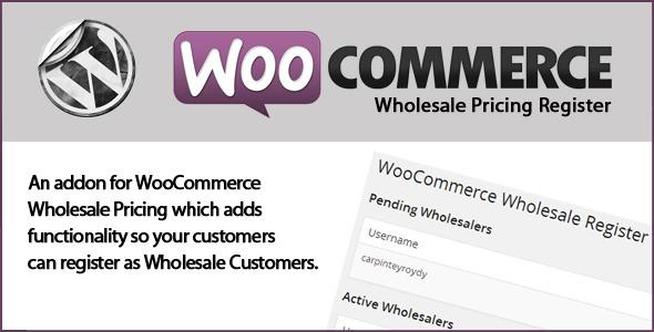 WooCommerce Wholesale Register