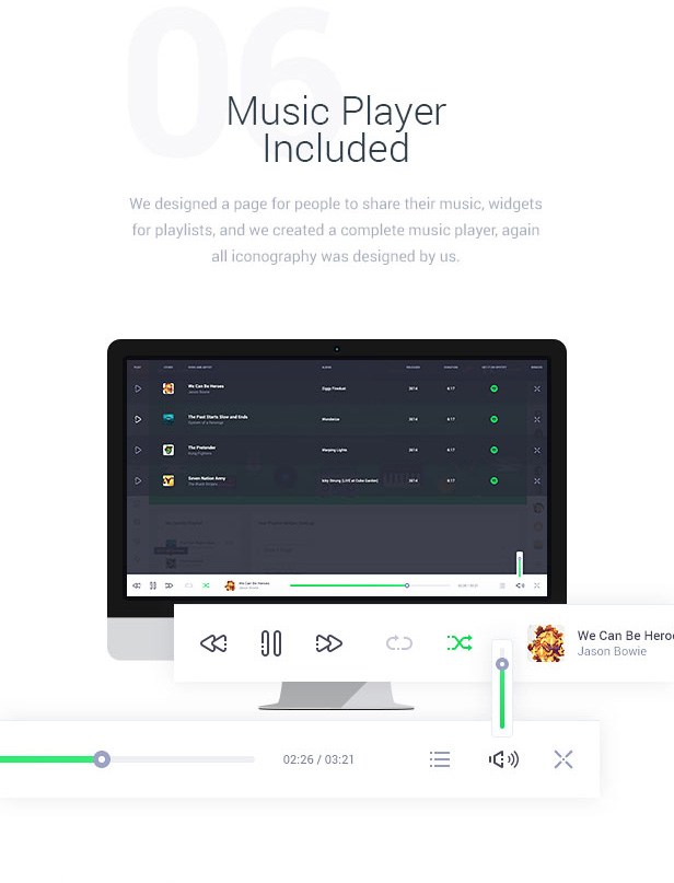 Music Player Included