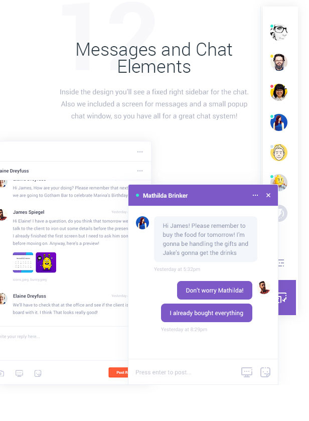 Messages and Chat Elements