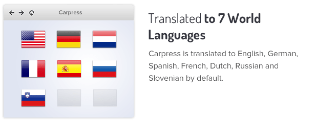 Translated out of the box to 7 languages