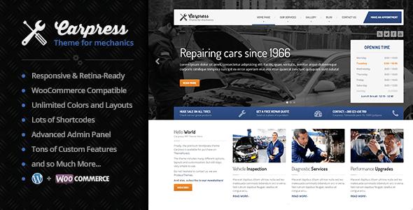 CarPress - WordPress Theme For Mechanic Workshops