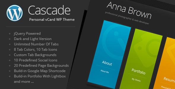 Cascade - Personal vCard WordPress Theme