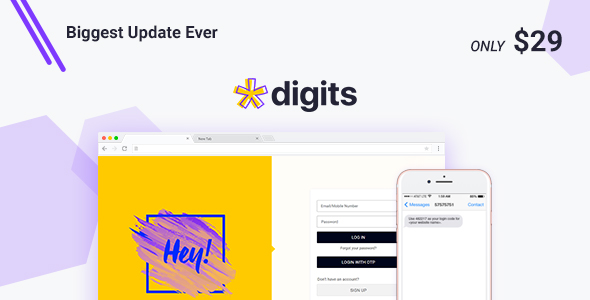 Digits : WordPress Mobile Number Signup and Login