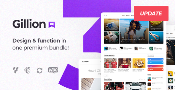 Gillion   Multi-Concept Blog/Magazine & Shop WordPress AMP Theme