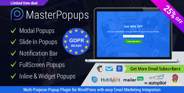 Popup Plugin for WordPress - Master Popups for Email Subscription