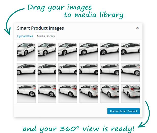 Smart Product Viewer 360 WordPress Backend