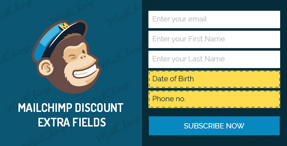 WooCommerce MailChimp Discount – Extra Fields AddOn