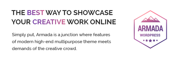 Armada - the best way to showcase your creative work online