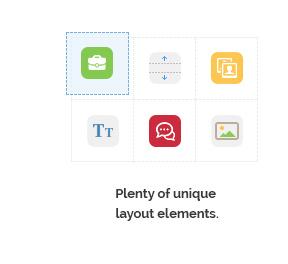 Plenty of unique layout elements.