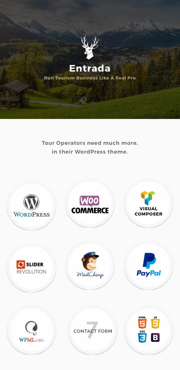 Tour Booking - Tour Adventure WordPress Theme - Entrada - 1