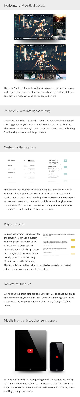 WordPress Responsive Youtube Playlist Video Player - 1