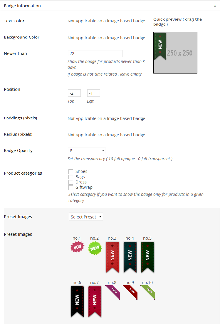 Woocommerce Products Badge Management - 8