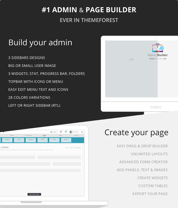 build your admin