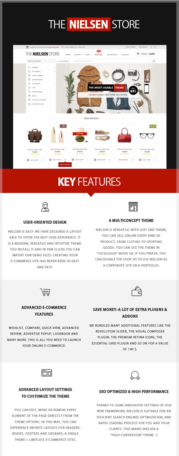 Nielsen -  E-commerce WordPress Theme - 1