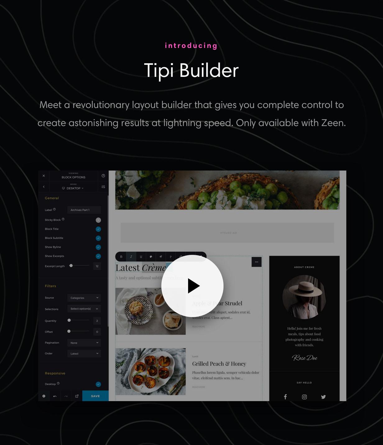 Tipi Builder Frontend WordPress Page Builder