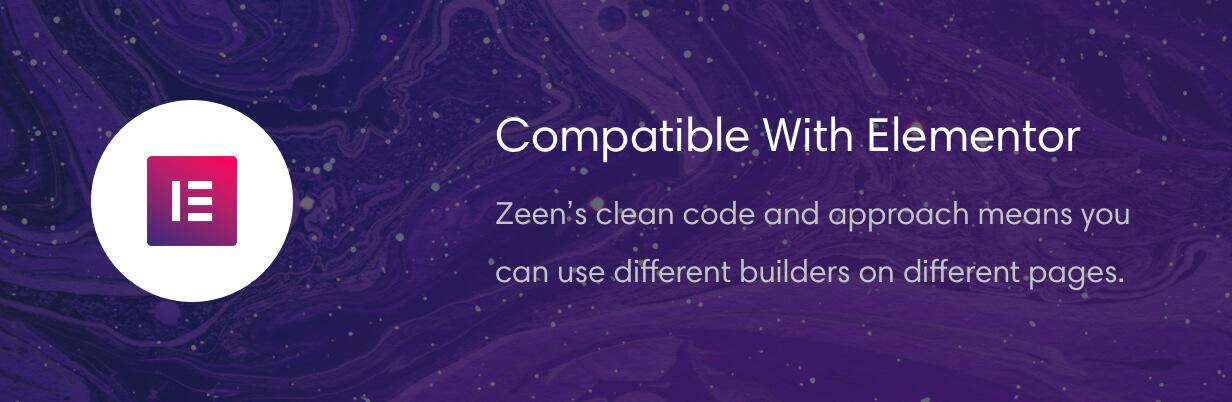 Zeen is compatible with Elementor