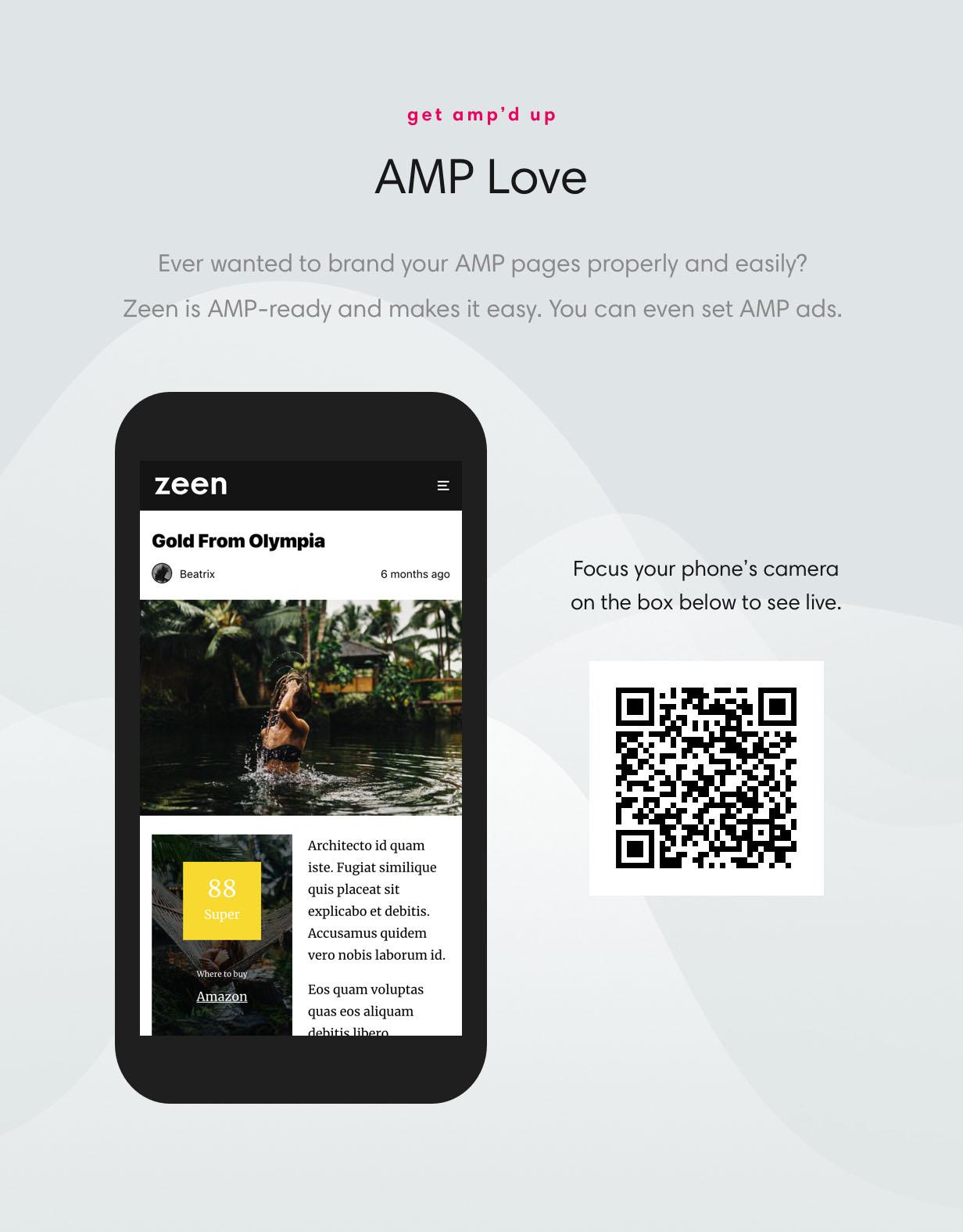 Zeen is AMP ready magazine theme