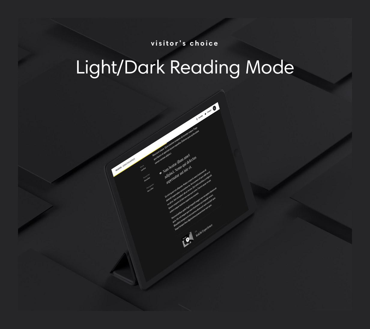Visitor Light Or Dark Reading Mode