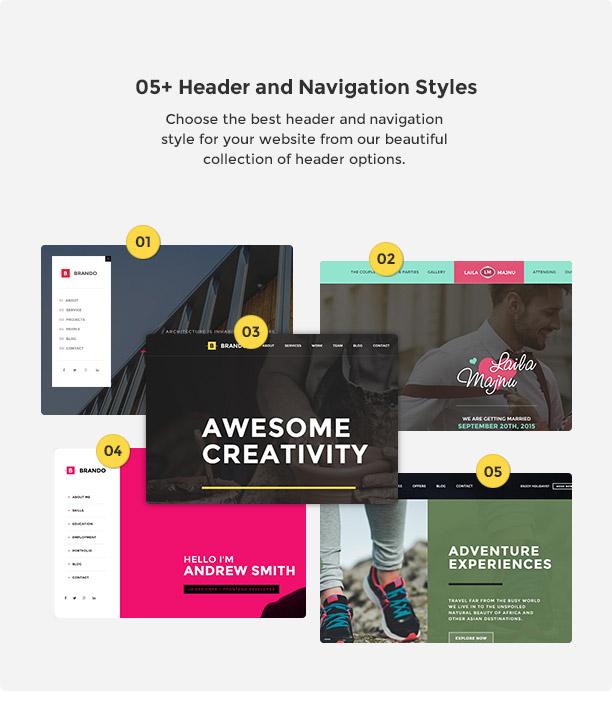 Brando Responsive and Multipurpose OnePage WordPress Theme - 14