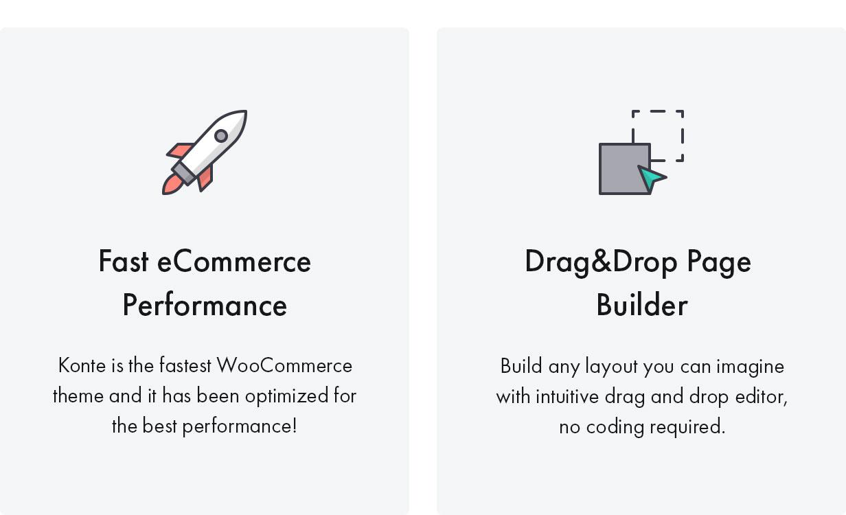 Konte WordPress theme high performance