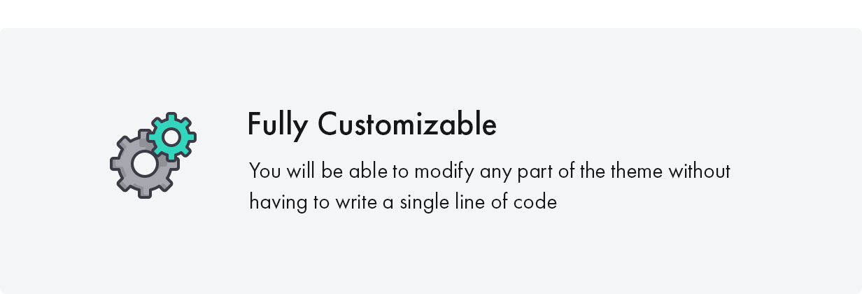 Konte WordPress theme is fully customizable