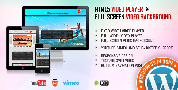 HTML5 Video Player WordPress Plugin - YouTube/Vimeo/MP4 - Right Side and Bottom Playlist - 1